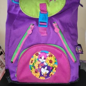 Rare 90s Lisa Frank kitty cats book bag